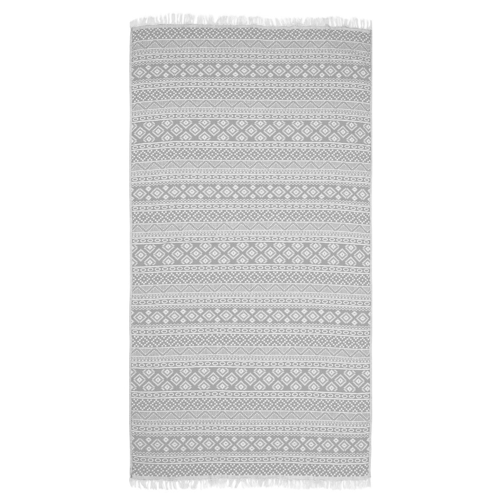 Sea Breeze Pestemal Beach Towel Gray - Linum Home Textiles
