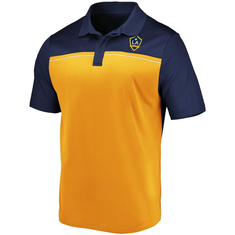 Mls Men's TC Polo Shirt Los Angeles Galaxy - Xxl, Multicolored