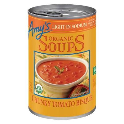 Amy's Organic Gluten Free Low Sodium Chunky Tomato Bisque Soup - 14.5oz