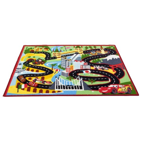 2 7 X 3 8 Disney Cars Racing Rug