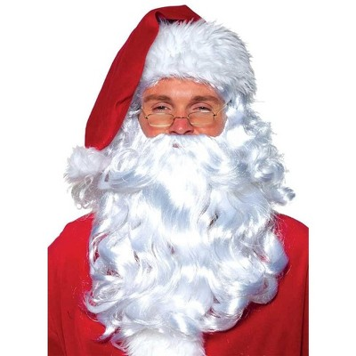 Underwraps White Santa Wig and Beard Adult Costume Set | One Size