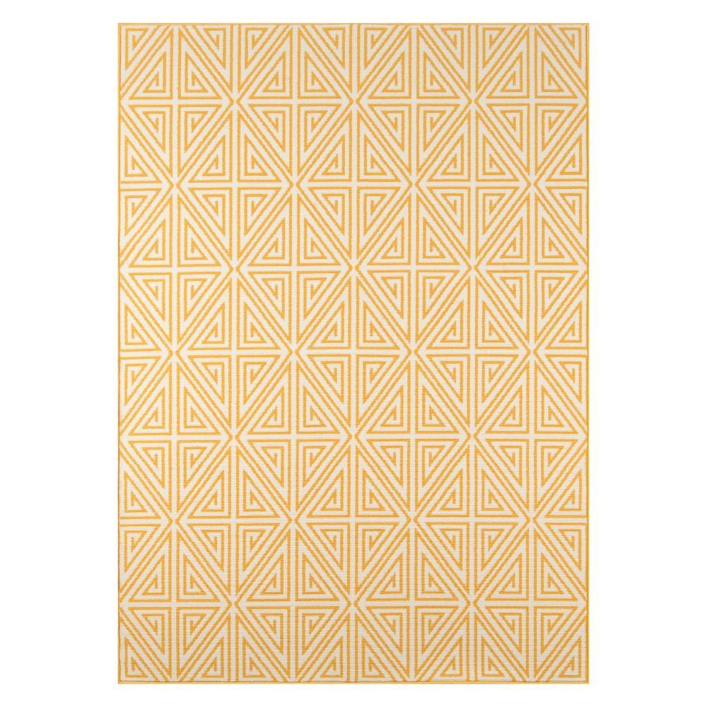 8'6X13' Geometric Loomed Area Rug Yellow - Momeni