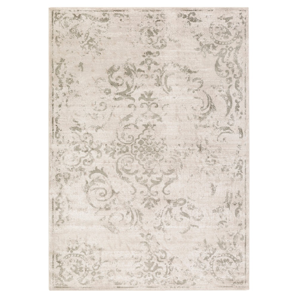 Gray Shadow Abstract Tufted Area Rug - (5'2