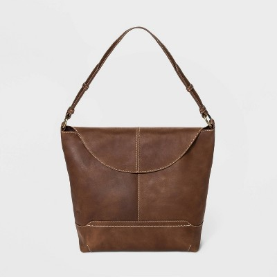 Bolo Elaina Snap Flap Closure Shoulder Bag - Leather