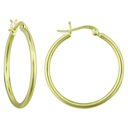 Women's Tube Hoop Earring in Gold Plating (2x50mm) - image 1 of 1