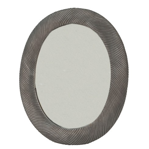 Main Oval Frame Mirror Antique Pewter - Carolina Chair & Table : Target