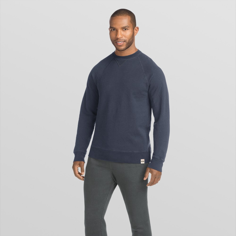 Hanes 1901 Men's V-Notch Raglan Pullover Sweatshirt - Navy (Blue) S