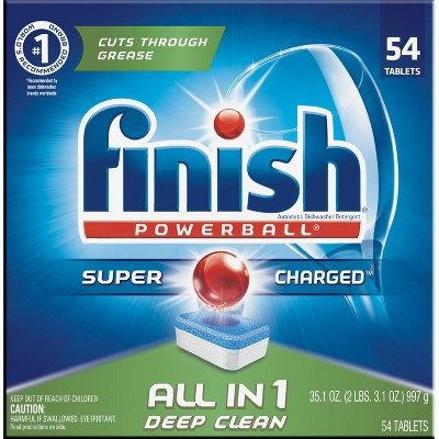 Finish Powerball Deep Clean Fresh Scent Dishwasher Detergent Tablets - 54ct