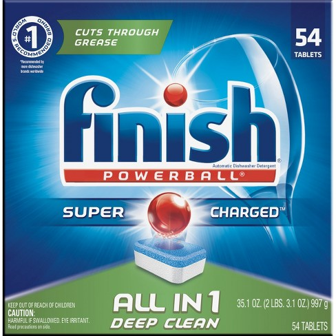 Finish PowerBall All-in-1 Dishwasher Detergent Tabs - 54ct - image 1 of 4