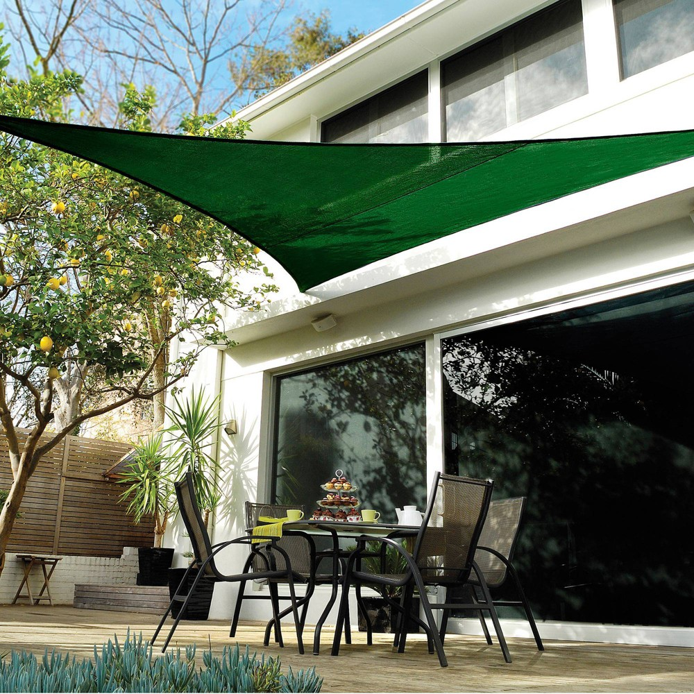 Image of 18' Coolhaven Shade Sail Kit Triangle - Heritage Green - Coolaroo, Size: 18' Triangle