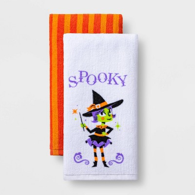 2pk Witch Halloween Terry Kitchen Towels - Hyde & EEK! Boutique™