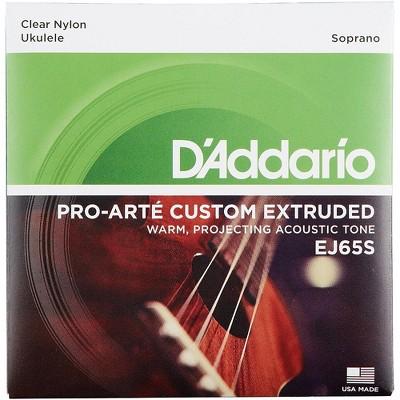 D'Addario EJ65S Pro-Arte Custom Extruded Soprano Nylon Ukulele Strings
