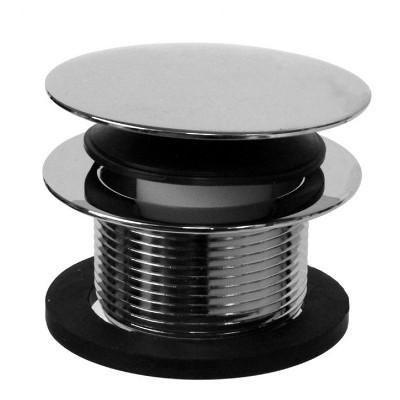 Westbrass ADA-Compliant, Heavy-Duty Metal, 1.5 Inch Diameter, Round Mushroom Cap Coarse Thread Tiptoe Bathtub Drain, Polished Chrome