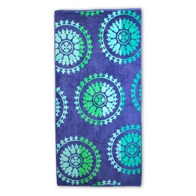 Summer Geometric Pinwheels Cotton Oversized Beach Towel by Blue Nile Mills