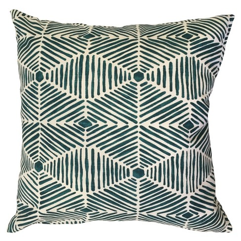 "Bright Navy Square Throw Pillow (18""x18"") - The Pillow Collection - image 1 of 1"