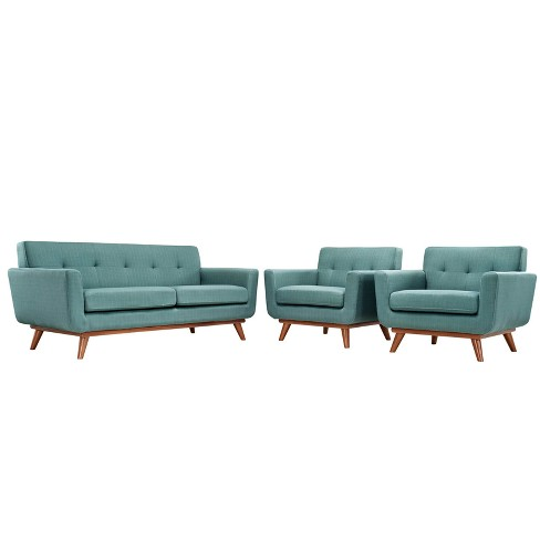 Engage Armchairs and Loveseat Set of 3 Laguna - Modway - image 1 of 7