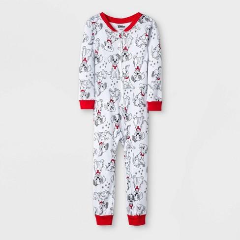 Toddler Boys' 101 Dalmatians Snug Fit Union Suit - White  - image 1 of 1