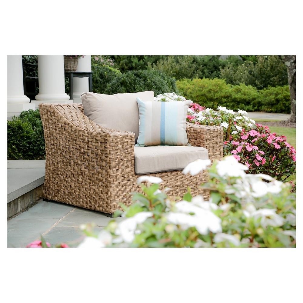 Elizabeth Single Arm Chair With Sunbrella Fabric Cast - Ash - AE Outdoor