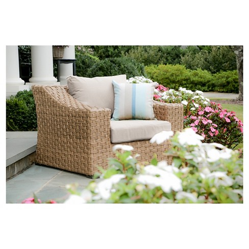 Elizabeth Single Arm Chair With Sunbrella Fabric Cast - Ash - AE Outdoor - image 1 of 2
