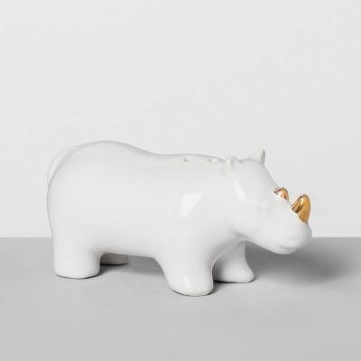 Rhino Stoneware Pepper Shaker White - Opalhouse™