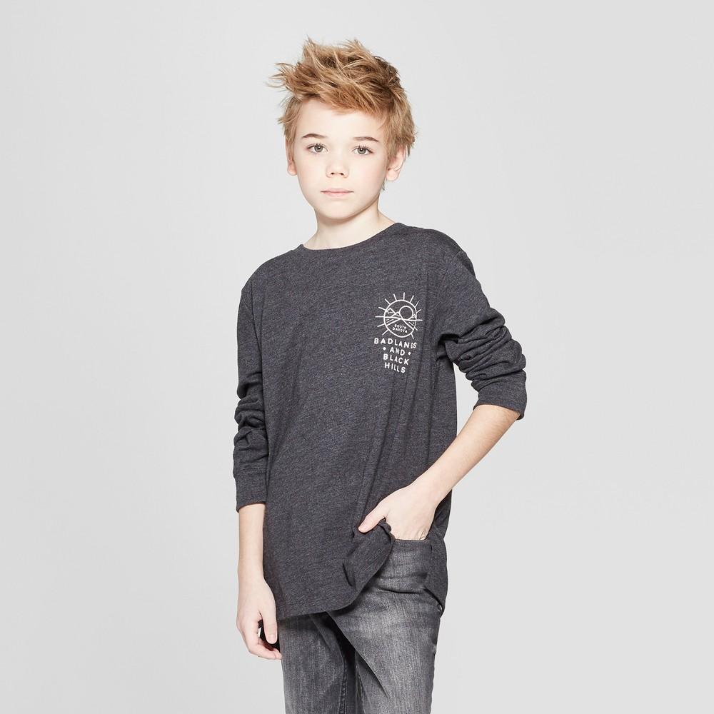 Boys' Back Graphic Long Sleeve T-Shirt - art class Black Xxl