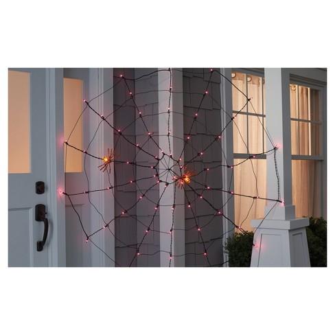 Purple Lighted Cobweb Spiderweb Indoor Outdoor Decoration 5 Ft Target