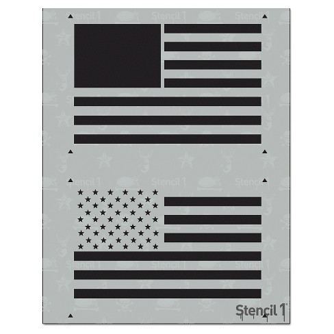 "Stencil1® American Flag - Layered Stencil 8.5"" x 11"" - image 1 of 3"