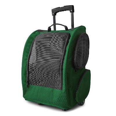 Oxgord Paws & Pals Pet Rolling Backpack Carrier