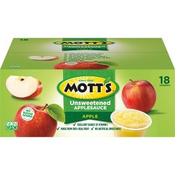 Mott's No Sugar Added Applesauce - 18ct