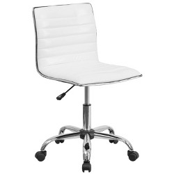 Low Back Armless Designer Swivel Task Chair - Flash Furniture