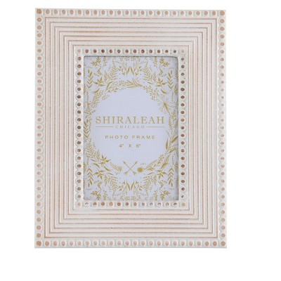 """Monterey Ivory 4"""" X 6"""" Picture Frame - Shiraleah"""
