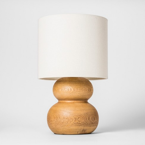14 5 X 9 Polyresin Pebble Table Lamp Brown White Project 62