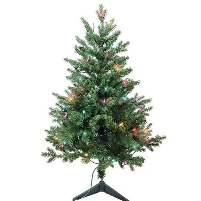 Kurt Adler 3' Pre-Lit Multi-Color Incandescent Jackson Pine Tree