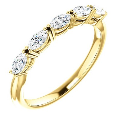 Pompeii3 1 1/2Ct Oval Moissanite Wedding Ring Available in White, Yellow or Rose Gold