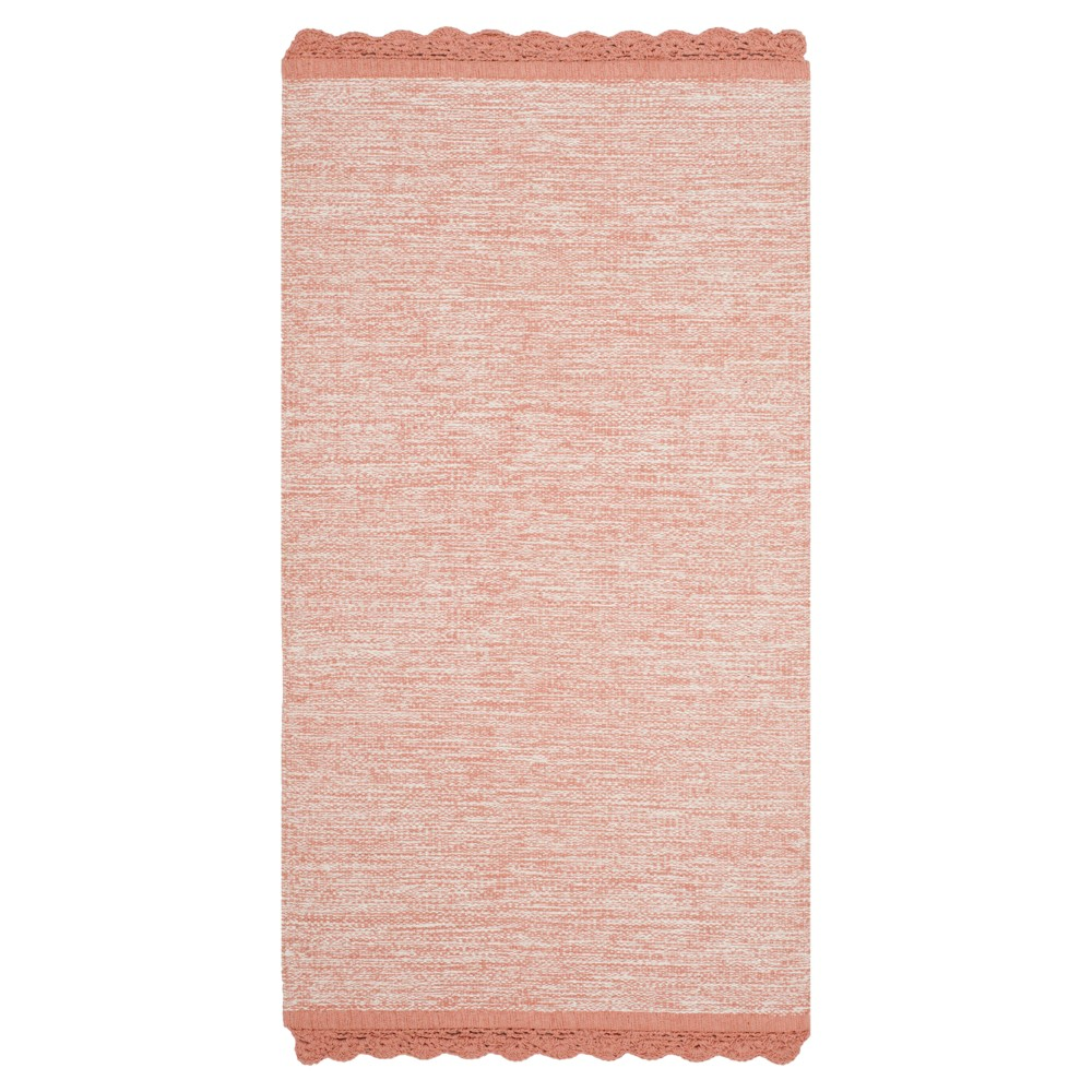 Peach (Pink) Spacedye Design Woven Area Rug 5'X8' - Safavieh