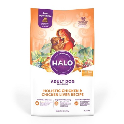Halo Holistic Chicken and Chicken Liver Recipe Adult Dry Dog Food