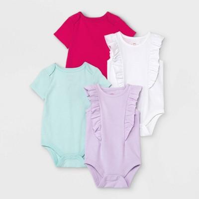 Baby Girls' Short Sleeve Bodysuit - Cat & Jack™ White 0-3M