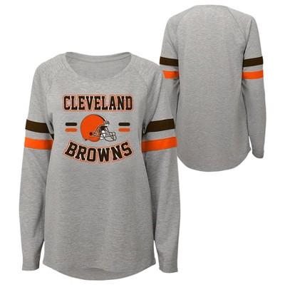 NFL Cleveland Browns Girls' Long Sleeve Fashion T-Shirt
