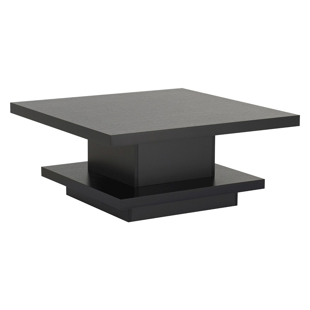 Traci Contemporary Pagoda Style Coffee Table Black - Homes: Inside + Out