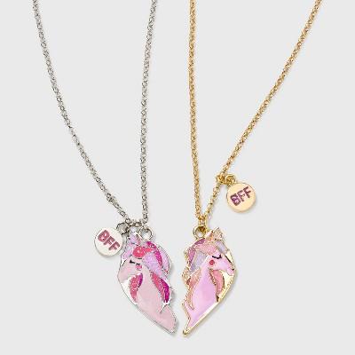 Girls' Broken Heart Unicorn Necklace Set - Cat & Jack™