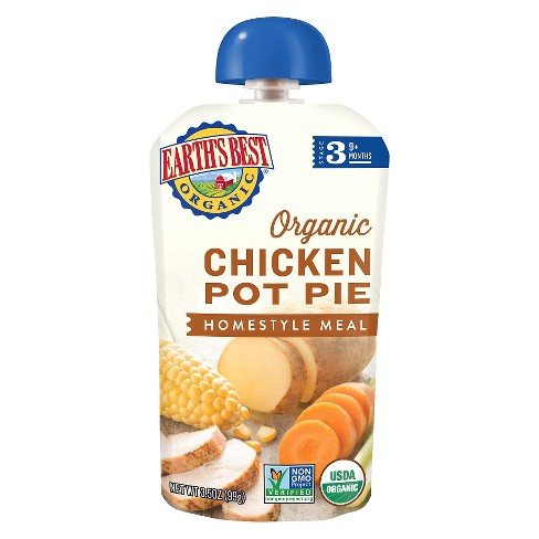 Earth's Best Organic Chicken Pot Pie Homestyle Baby Meal - 3.5oz - image 1 of 4