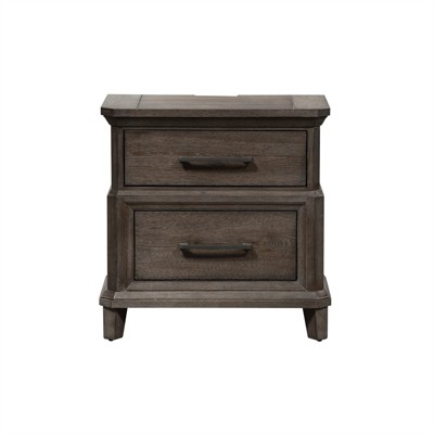 2 Drawer Night Stand w/ Charging Station in Brown - Liberty Furniture