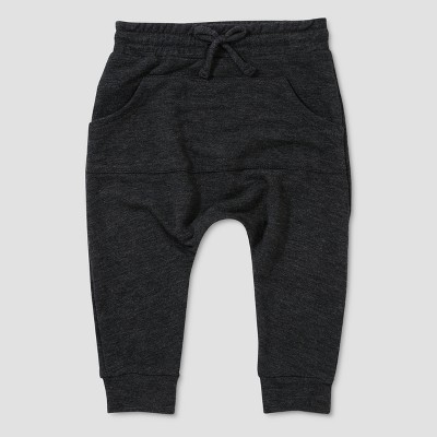 Baby Boys' Afton Street Kanga Jogger Pants - Charcoal Heather 6-9M