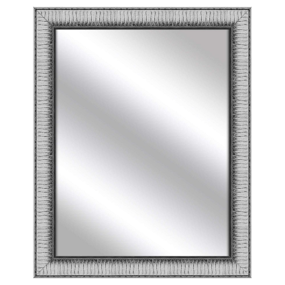 Decorative Wall Mirror Ptm Images Silver