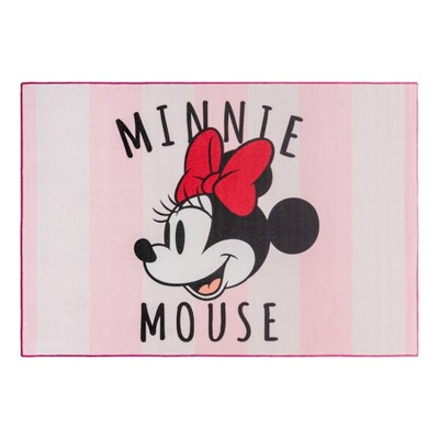"54""x78"" Minnie Mouse Striped Area Rug"