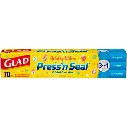 Glad Holiday Press'n Seal Wrap 70 sq ft Roll - image 1 of 4