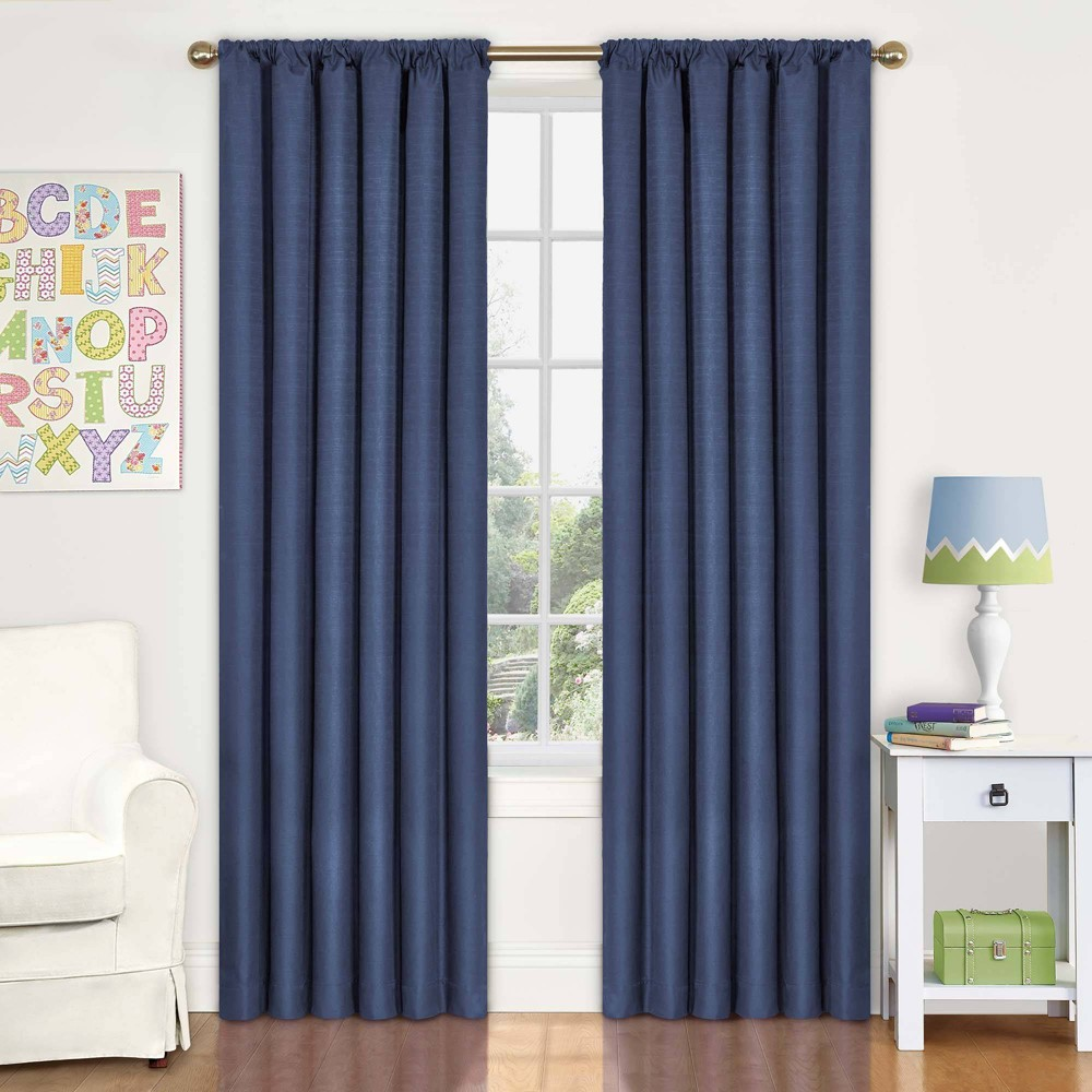 "Image of ""Eclipse My Scene Kendall Blackout Window Panel - Denim (42"""" X 63""""), Blue"""