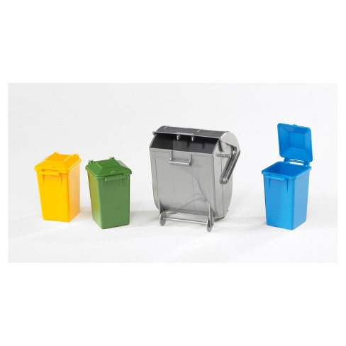 Bruder Toys Garbage Can Accessory Set - 1/16 Scale Realistic - Functional Toy Garbage Collection Vehicle Accessories - image 1 of 1