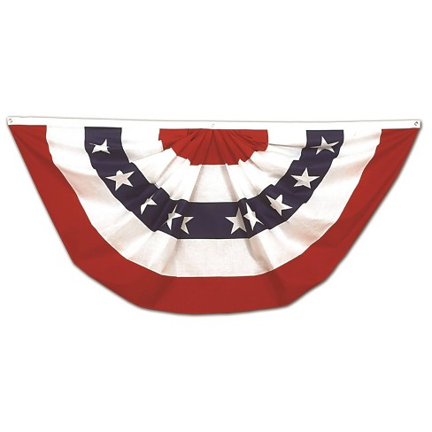 1.5' x 3' 4th of July Pleated Fan - image 1 of 2