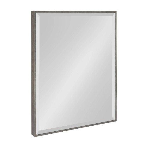 """18.75""""x24.75"""" Rhodes Framed Wall Mirror Dark Silver - Kate and Laurel - image 1 of 4"""